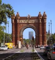 ARC DE TRIOMF, was built as the gateway for the Universal Exhibition (1888) which was held in the Parc de la Ciutadella.