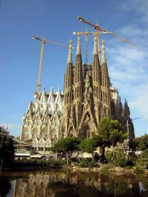 The Antoni Gaudí's unfinished masterpiece Sagrada Família is one of Barcelona's most popular tourist attractions
