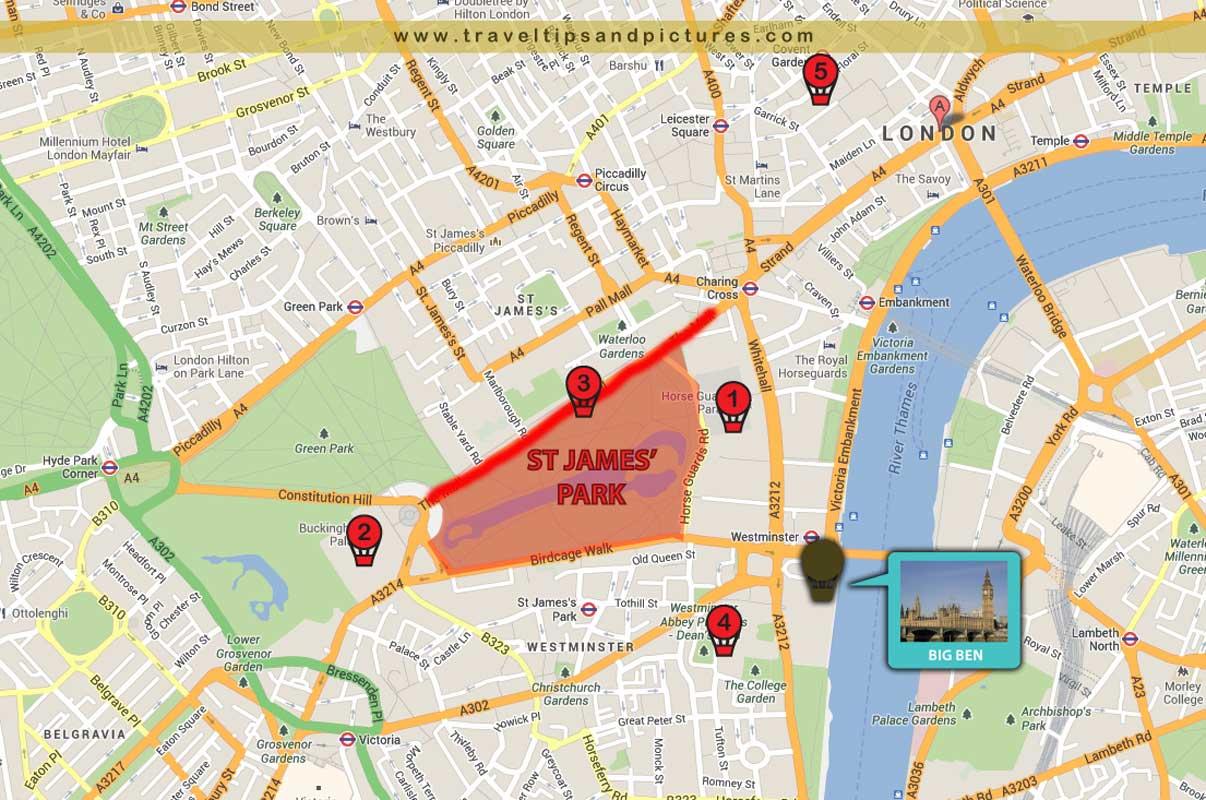 London PARKS and OPEN SPACES 3 St James Park TTP