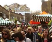Crowded Flower Market - LONDON, England