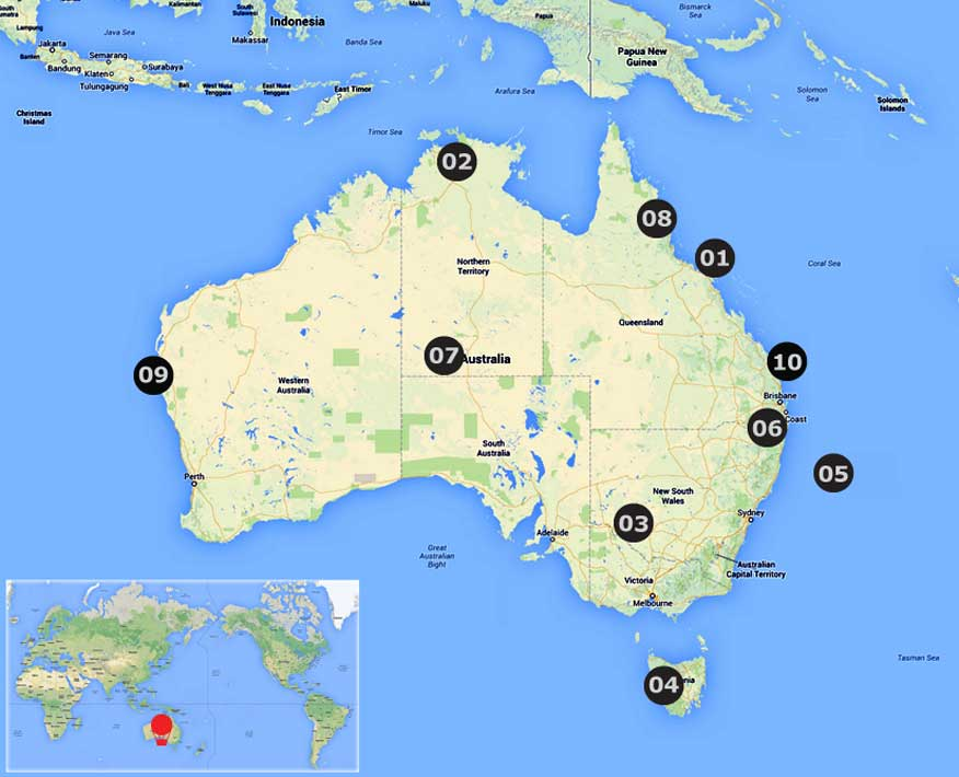 Australia land and world heritages ttp unesco world heritage sites click for full size gumiabroncs Images