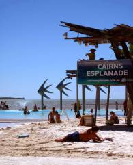 CAIRNS ESPLANADE includes a swimming lagoon with adjoining barbecue areas.