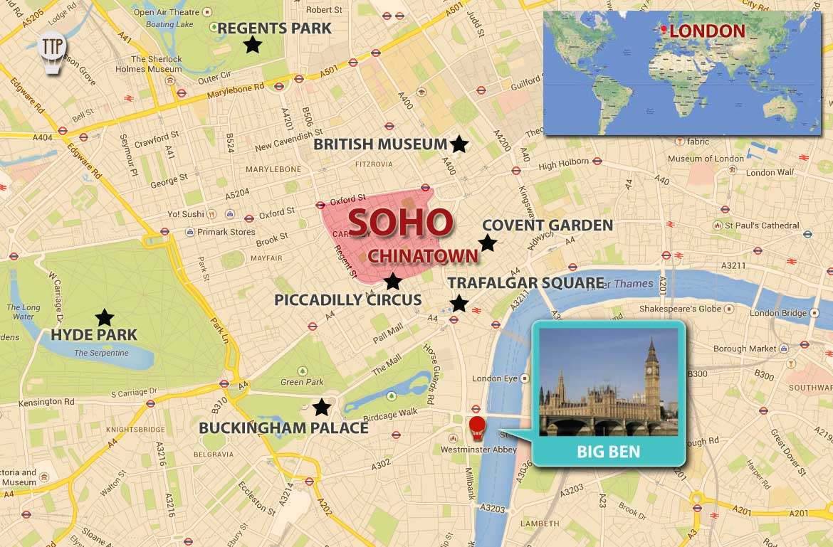 soho and chinatown london map